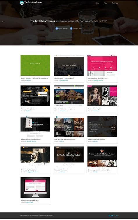 bootstrap layout gallery the bootstrap themes web design css showcase gallery