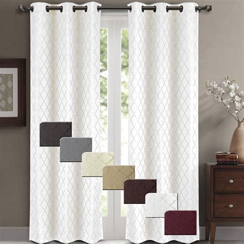 thermal curtain panels willow pair set of 2 jacquard blackout thermal