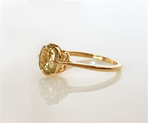 Yellow Quartz Yellow Topaz antique yellow topaz ring ambrosia