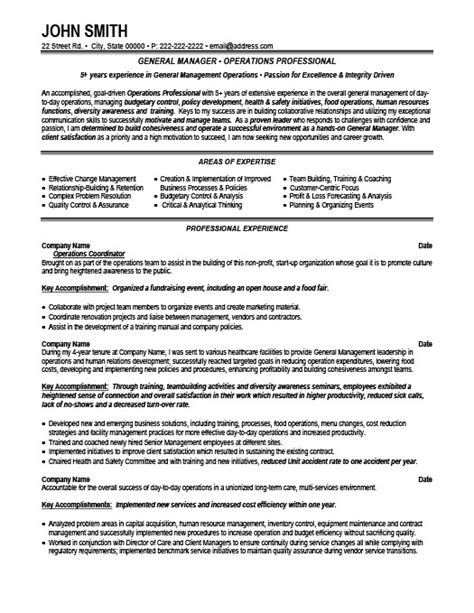 general manager resume template premium resume sles exle