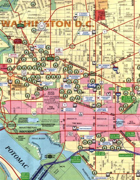 washington dc map of cities washington district of columbia washington dc city map