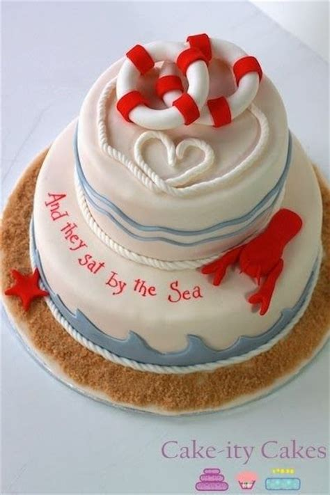 Nautical Bridal Shower Cakes by
