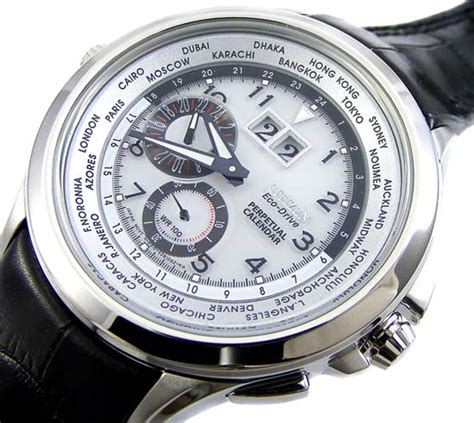 Calendar Drive Time S Watches Citizen Eco Drive Twindate Perpetual