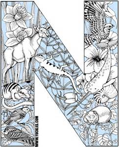 color that starts with z letter n coloring page by yuckles