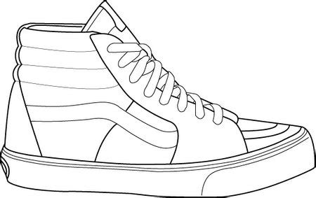 coloring pages of vans shoes vans shoe template printable sketch coloring page