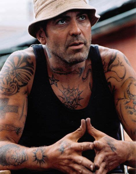 george clooney tattoo george clooney in welcome to collinwood clooney