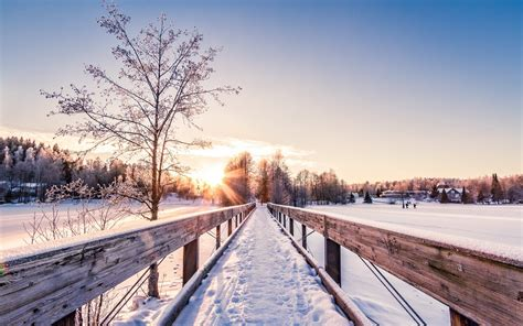 download landscapes bridges wallpaper 2560x1600 bridge winter landscape sunrise sunset dawn wallpaper