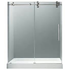 glass shower doors at lowes frameless glass vigo vg6041chcl60w3 60 frameless shower