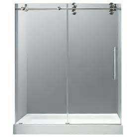 lowes sliding glass shower doors shop vigo 56 in to 60 in w x 79 in h frameless sliding