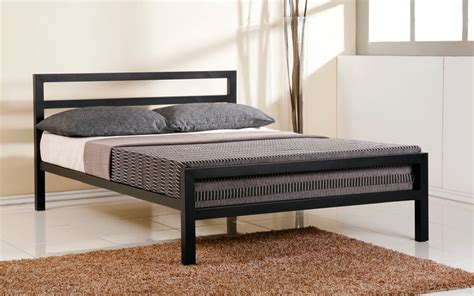 metal frame bed time living city block metal bed frame mattress