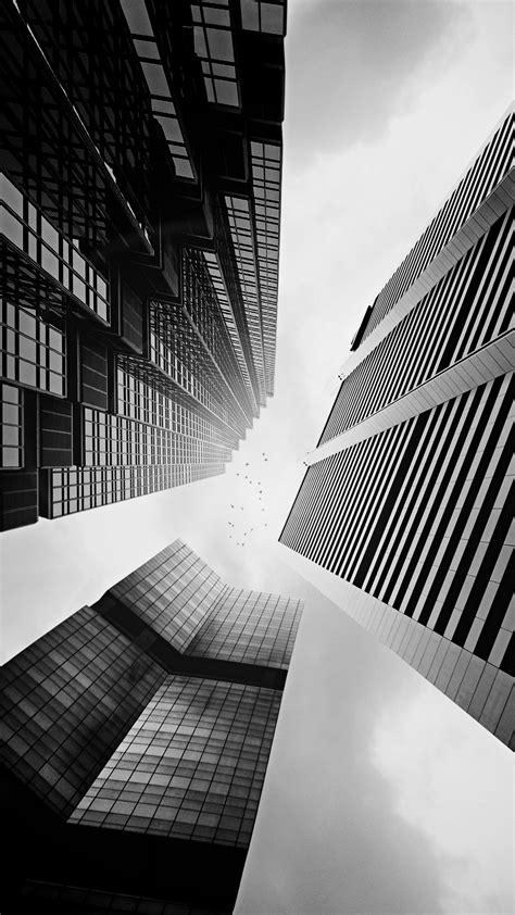 wallpaper black and white buildings skyscraper buildings black white lockscreen iphone 6 plus
