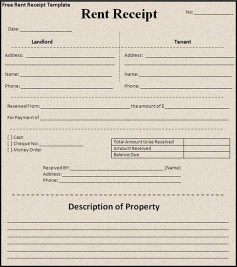 rent invoice receipt template receipt template for monthly rent exle of monthly rent