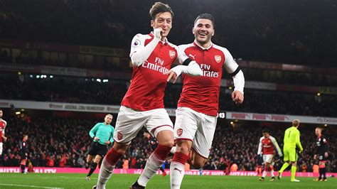 arsenal huddersfield youtube watch every goal from our win against huddersfield video