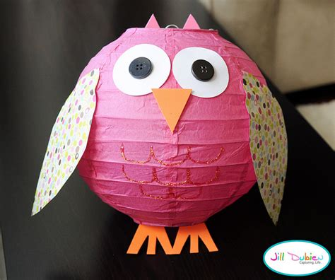 owl decorations make an owl lantern 187 dollar store crafts