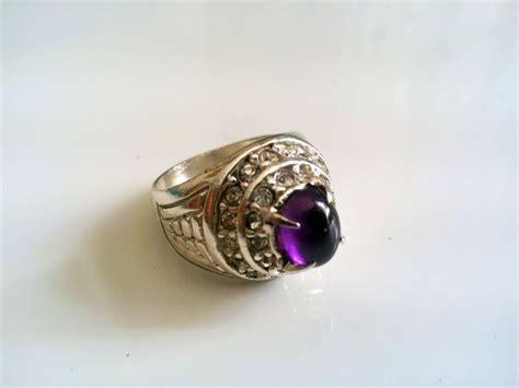 Vee Cincin Pria Batu Kecubung Ungu Batu Akik Cp17 jual cincin batu kecubung ungu cbku1 grosir cincin