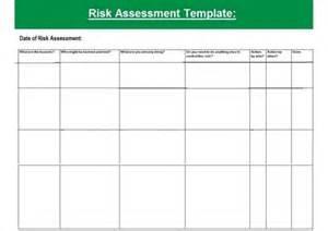 formal risk assessment template blank risk assessment forms