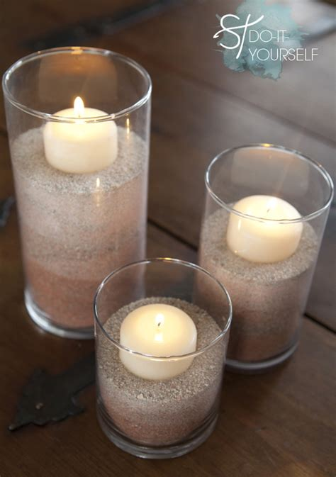 wedding centerpieces with candles and sand learn how to color sand with food coloring