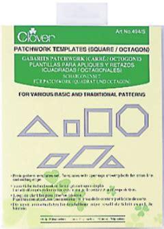 Clover Patchwork Templates - clover patchwork templates square octagon