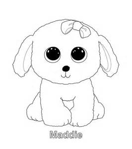 beanie boo coloring pages maddie sanaas coloring