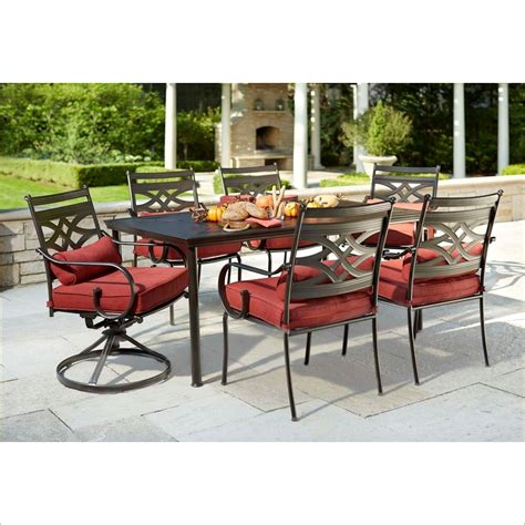 hton bay 7 patio furniture home depot patio cushion set