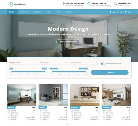 wordpress themes rent house 50 best real estate wordpress themes templates design