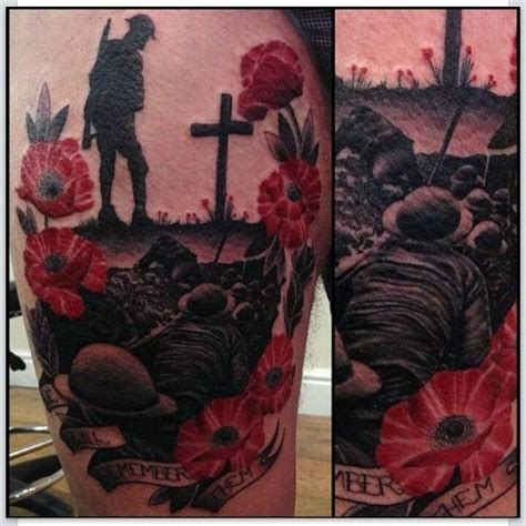 remembrance poppy tattoo designs remembrance day by gow remembranceday
