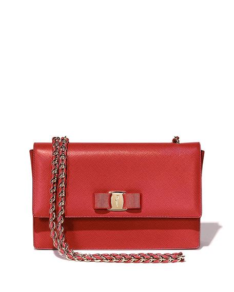 Salvatore Ferragamo Miss Vara Rosso salvatore ferragamo miss vara mini crossbody bag new bisque