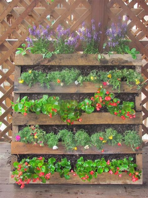 herb garden planter pallet herb garden is the solution for limited space