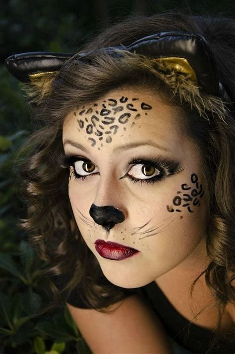 imagenes de halloween para pintarte la cara maquillaje de leopardo para halloween 2018 paso a paso