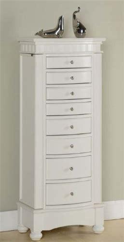 white floor standing jewelry box cabinet