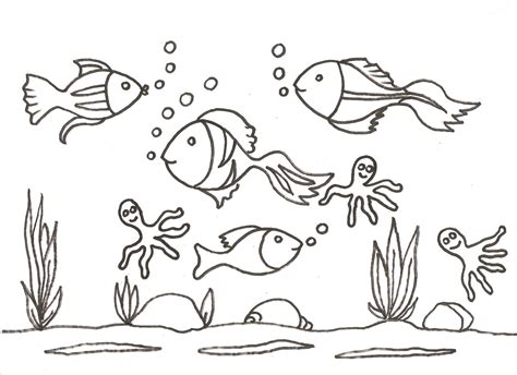 el ecosistema colouring pages peces para colorear