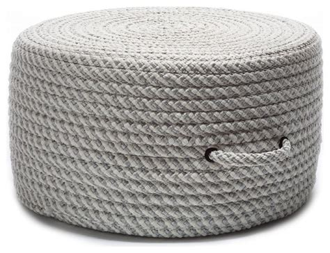braided pouf ottoman braided round pouf shadow gray contemporary
