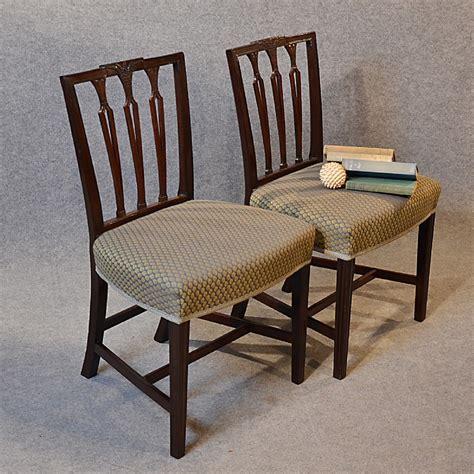 antique pair chairs sheraton period georgian