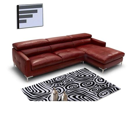 Contemporary Italian Leather Sectional Sofas Dreamfurniture 940 Modern Italian Leather Sectional Sofa
