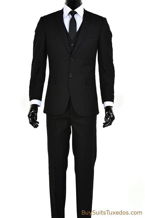 Sliming Suit 3 In 1 italian designer s black slim fit 3 suit set shopping