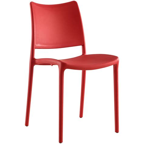 Hipster Contemporary Stackable Plastic Dining Side Chair Red Plastic Dining Chairs