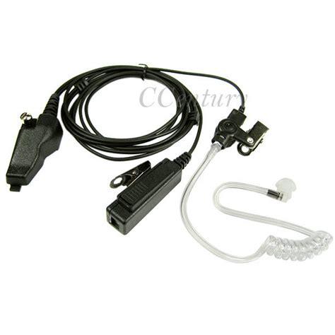 Headset Fbi fbi headset earpiece ptt mic for kenwood tk280 tk380 tk290 tk390 tk385 radio ebay