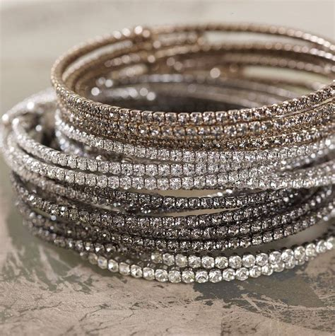 fine crystal fine crystal bangles by lily belle notonthehighstreet com