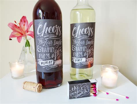 wedding wine bottle labels template diy wedding printable rustic chalk labels worldlabel