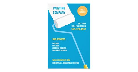 painting template painting company contractor flyer zazzle