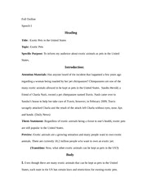 Goodwill Closing Business Letter Pets Speaking Outline Outline Speech