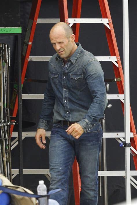 jason statham rrl dark denim western button shirt