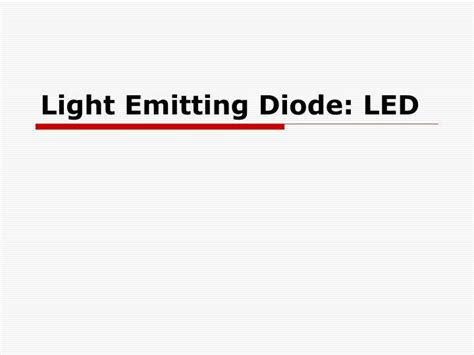 led diodes ppt ppt light emitting diode led powerpoint presentation id 259758