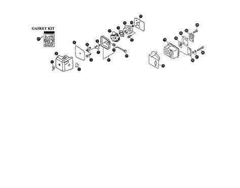 air cleaner muffler throttle diagram parts list for model sv5c2 mantis parts tiller parts