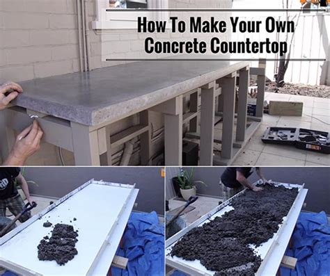 how to build your own home how to make your own concrete countertop home and