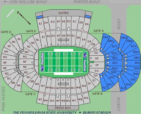 penn state stadium seating penn state nittany lions 2004 football schedule