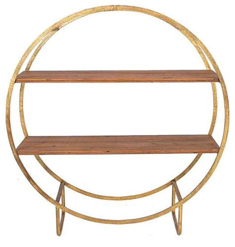 Circle Shelf by Circle Wood And Metal Shelf Industrial Display And Wall