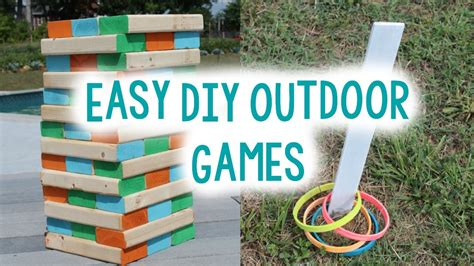 backyard games for teens diy outdoor games for summer easy craft idea youtube