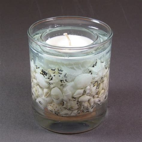 gel candele stoneglow candles sea shore wax gel candles