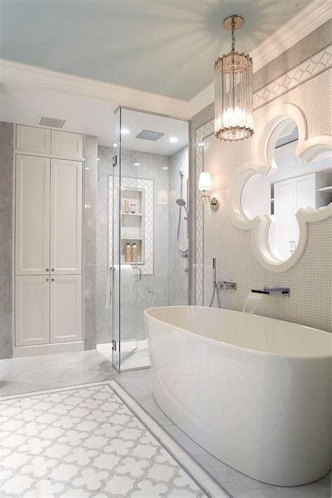 oval white porcelain freestanding bathtub using waterfall bathroom design decor photos pictures ideas